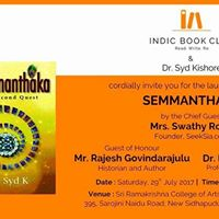 Book Launch - Semmanthaka - Indic Book Club
