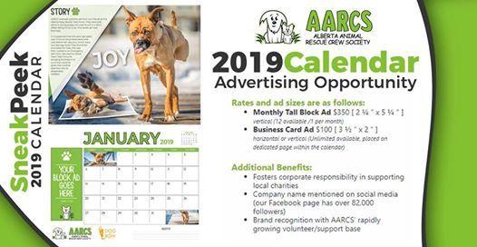 Claim Your Spot in the 2019 AARCS Calendar