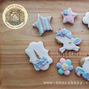 Unicorn Royal Icing Cookies