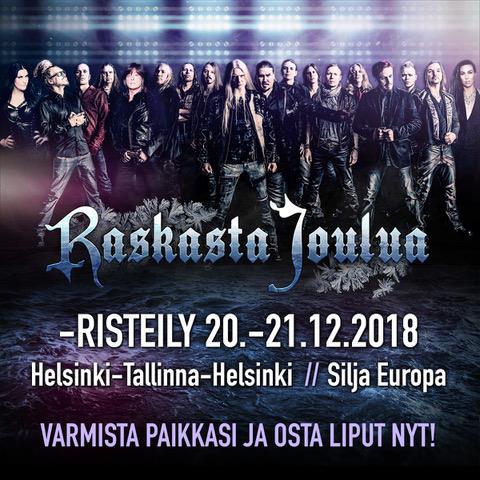 joulu risteily 2018 Raskasta Joulua  risteily 2018 at M/S Silja Europa, Tallinn joulu risteily 2018
