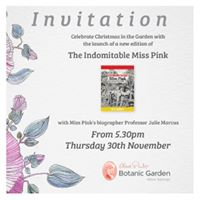 Garden Christmas Party &amp relaunch of the Indomitable Miss Pink
