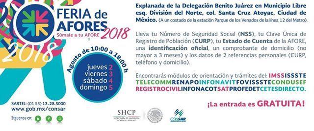 Feria De Afores 2018 At Delegación Benito Juárez