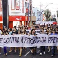 Greve geral Ato contra as reformas da previdncia e trabalhista