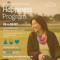 RJ - Ipanema - Curso Arte de Viver Happiness Program