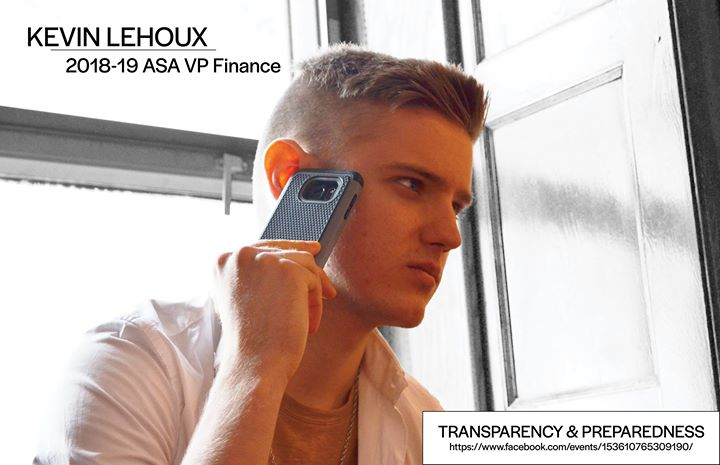 Kevin Lehoux for 2018-19 ASA VP Finance