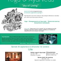 Weekend &quotJoy of Living&quot  Lille  yoga Ayurveda &amp mantras