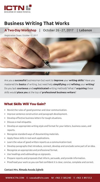 Business Writing That Works At Ictn International Consulting