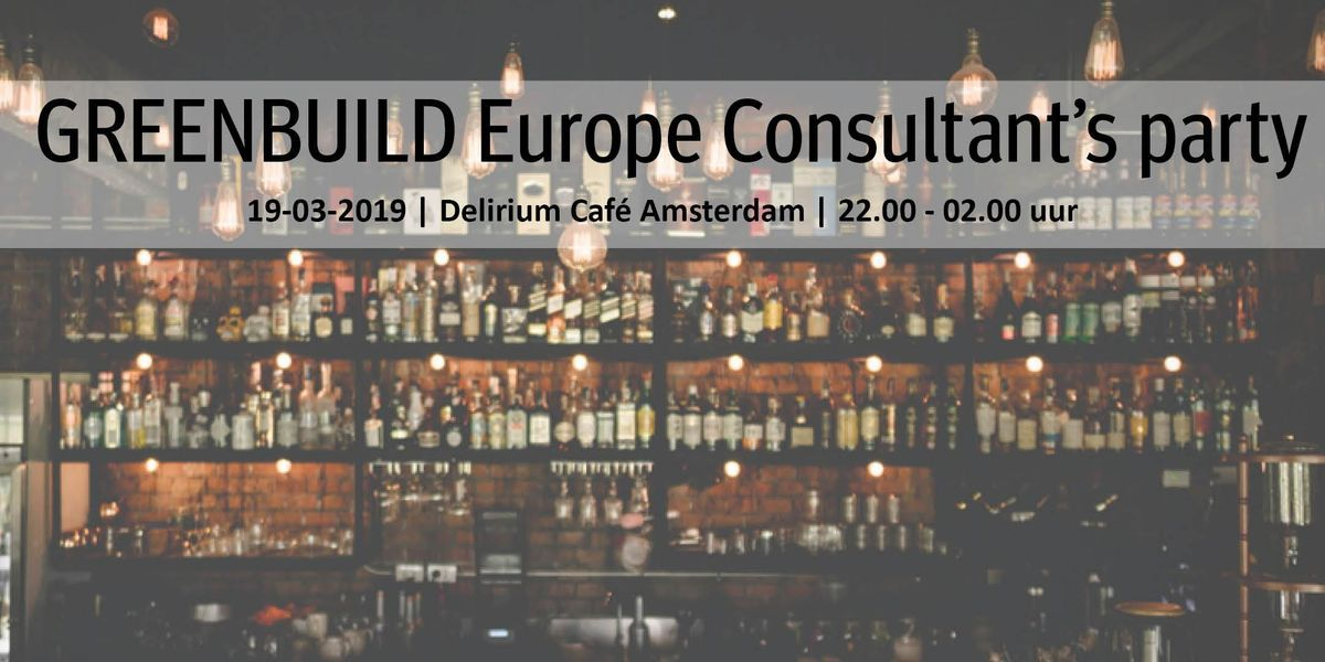Greenbuild Europe Consultants Party