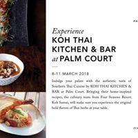 Experience Koh Thai Kitchen &amp Bar at Palm Court