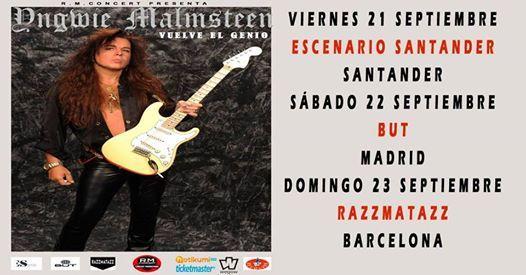 Yngwie Malmsteen en Madrid
