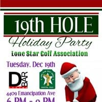 19th Hole Holiday Party at Hermann Golf Course and the D Bar