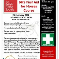 Gloucestershire First Aid For Horses Course