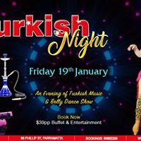Turkish Night - Friday 19 January
