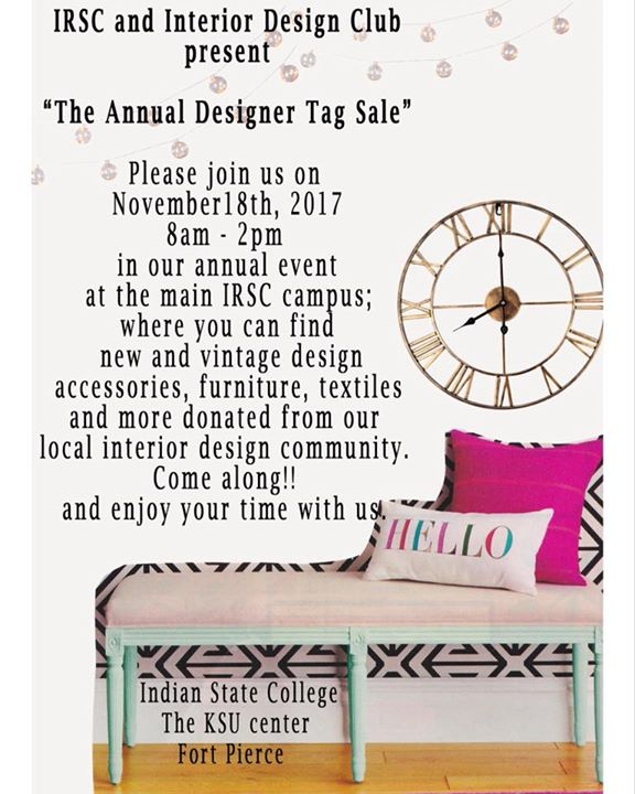 Indian River State College Interior Design Tag Sale | Fort ...
