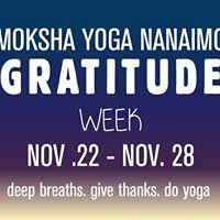 Moksha Yoga Nanaimo Gratitude Week