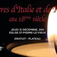 Concert &quotLumires dItalie et de France&quot et exposition photo