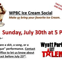 WPBC Ice Cream Social and Wyatt Parks Got Talent