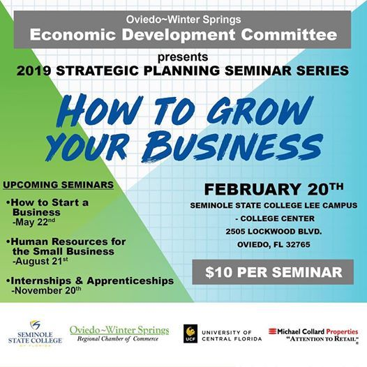 Seminole State Oviedo Campus Map.2019 Strategic Planning Seminars Grow Your Business At 2505
