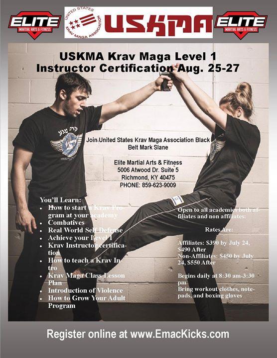 Uskma Krav Maga Instructor Level 1 Certification At Elite Martial