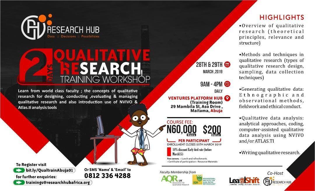 Qualitative Research Training Workshop Abuja
