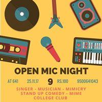 Open mic night - 9