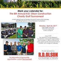 8th Annual R.D. Olson Construction Charity Golf Tournament