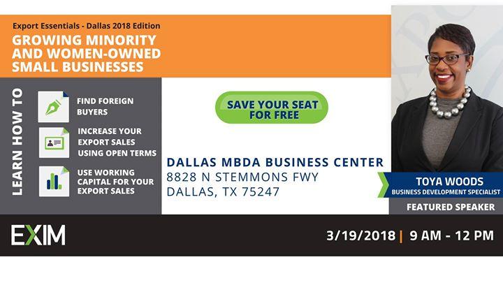 Export Essentials- Dallas 2018 Edition