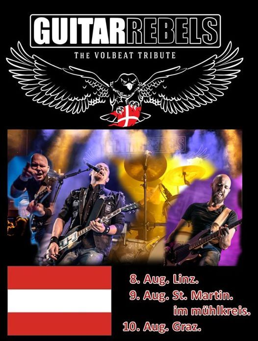 Guitar Rebels The Volbeat Tribute sterreich Tour 19