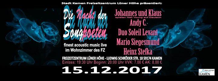 Die Nacht der Songpoeten II live im FZ Kamen