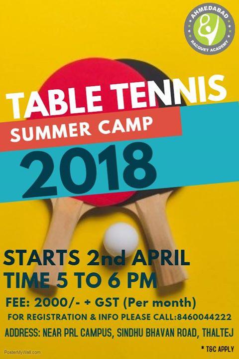 Summer Camp 2018 - Table Tennis
