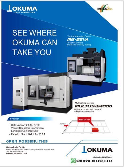 Imtex 2019 Okuma Products Authorised Distributors Okaya & Co Ind