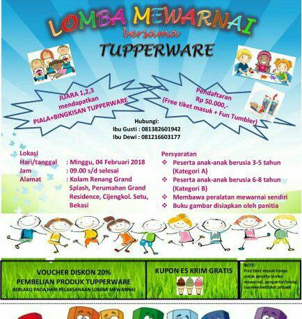 Lomba Mewarnai Tupperware At Grand Splash Kota Bekasi Bekasi