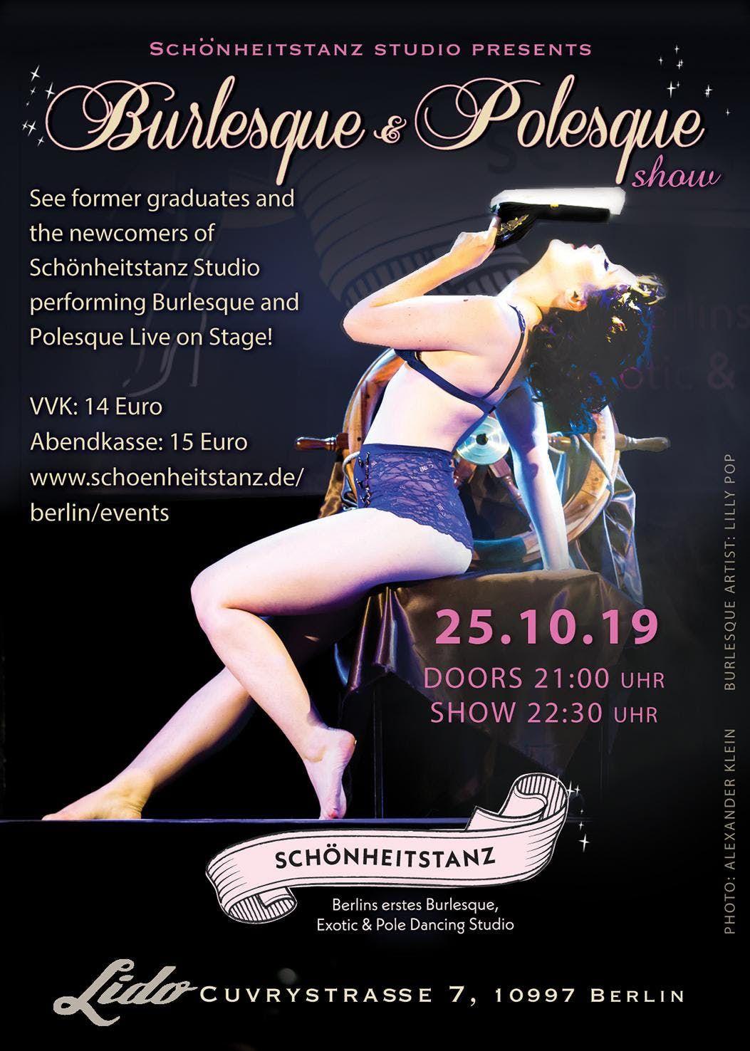 Schnheitstanz presents A Night of live Burlesque & Polesque No 14