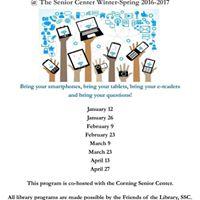 Smartphone &amp Technology Q &amp A at Corning Senior Center