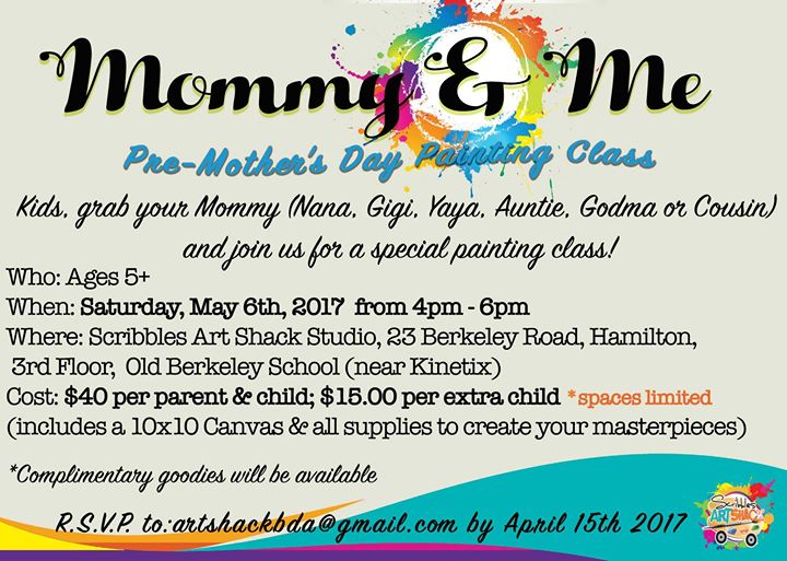 Mommy Me Pre Mothers Day Painting Class At Scribbles Art Shack