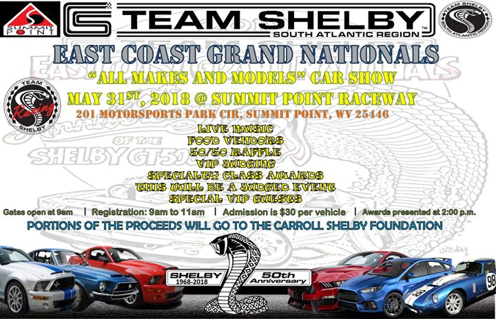 Team Shelby ECGNs Car Show At Summit Point Raceway Summit Point - Summit car show