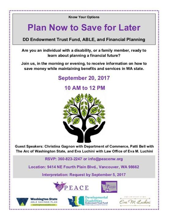 Plan Now to Save for Later Morning (ABLE & Special Needs Trusts)