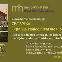 Promocija Zbornika Ogranka MH Samobor 2016.