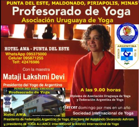 Profesorado de Yoga en Punta del Este 2018