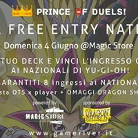 Prince of Duels - Win Free Entry Yugioh National test ufficiale