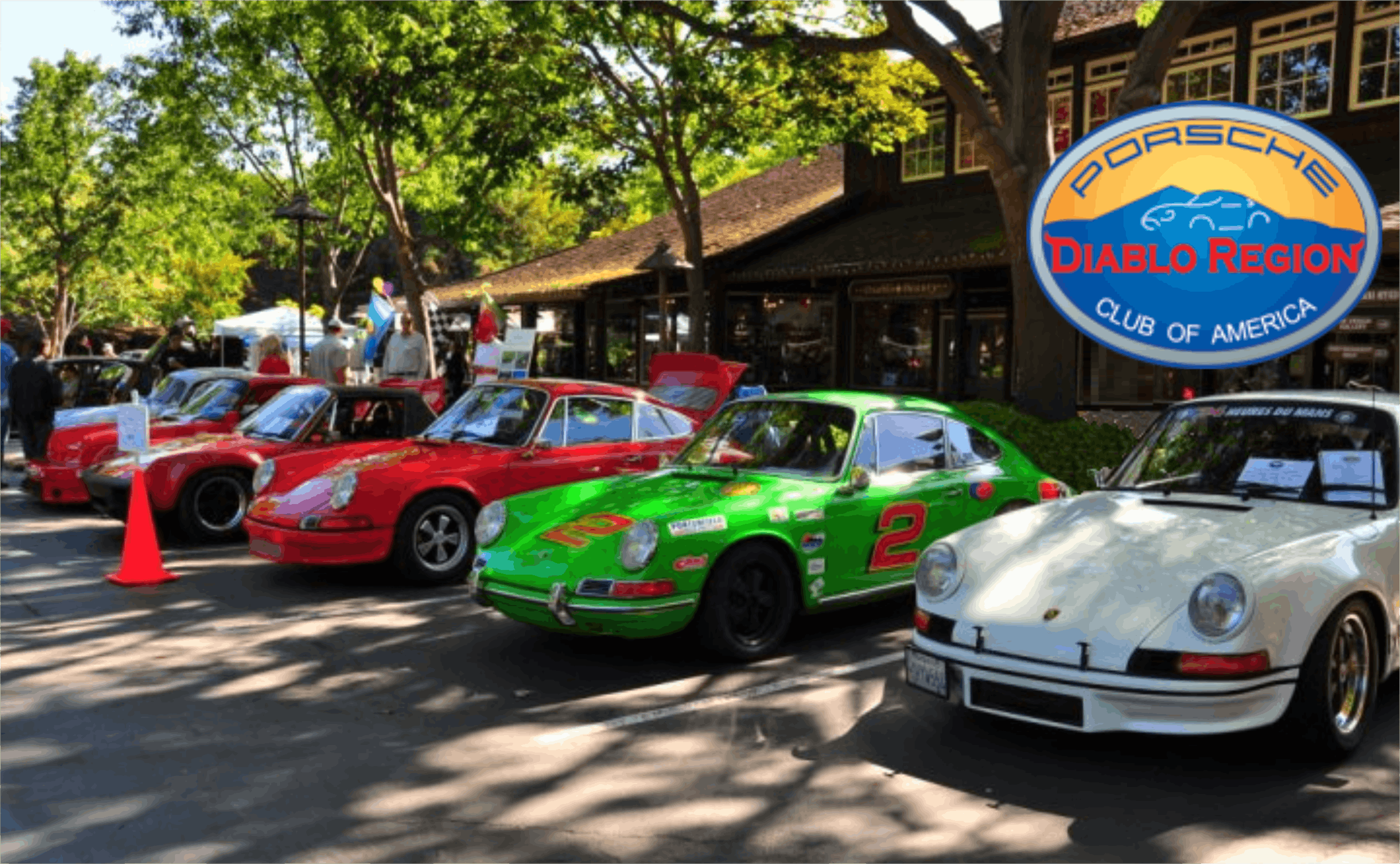 PCA Diablo Region 34th Annual Car Show at The Livery Shopping