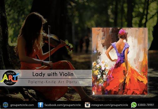 Lady With Violin- Art Party (Mundhwa)