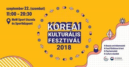 Koreai Kulturlis Fesztivl 2018