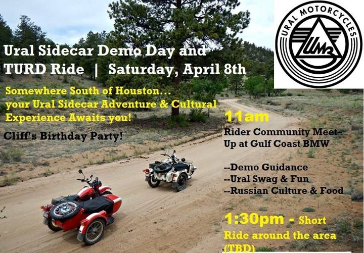 ural sidecar demo day & turd ride at gulf coast bmw motorcycles