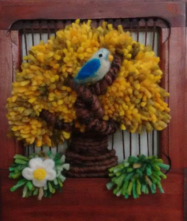 Vi a arte terapia taller telar arbol de la vida at cafe for Tipos de arboles decorativos