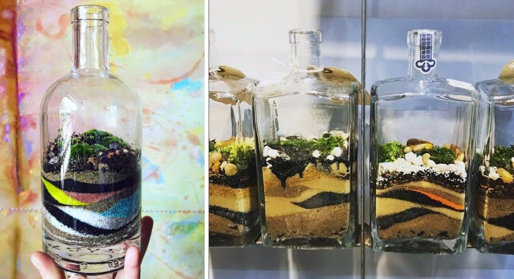 Artists and Makers Series Upcycled Bottle Terrarium (BYOB&B)