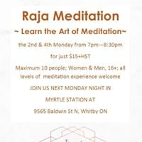 Raja Meditation -Learn the Art of Meditation