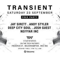 Transient - Free Entry - Sat 23rd September 2017