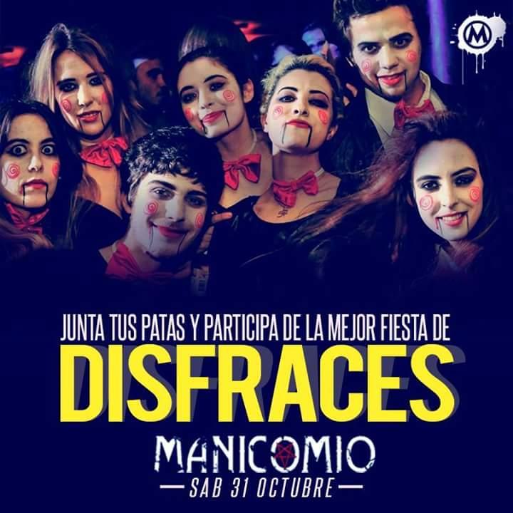 ∆manicomio Presenta ∆ Fiesta De Disfraces 30 De Octubre at Tres ...