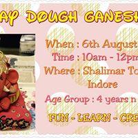 Baby Ganesha With Play Dough